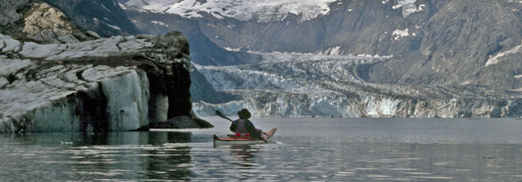 Author, Robert H. Miller, kayaking the Inside Passage